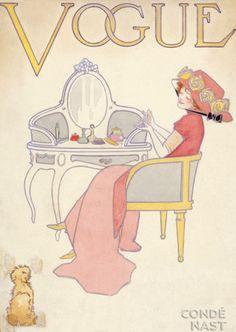 ⍌ Vintage Vogue ⍌ art and illustration for vogue magazine covers -
