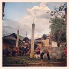 Jumping rope - Bokeo, Laos