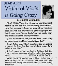 Love this advice... thank you, Dear Abby.
