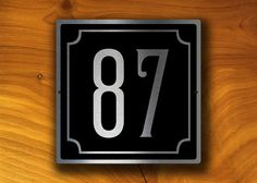 CUSTOM HOUSE NUMBERS Sign Outdoor House Number Plaque Custom