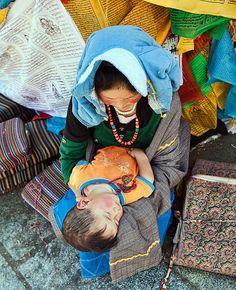 A Mother's Adoration. Tibet
