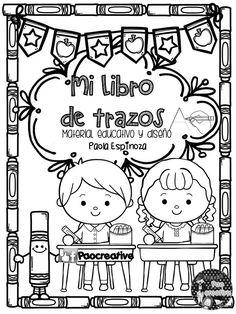 La maestra Paocreative nos sorprende diseñando y compartiendo con todos nosotros este estupendo librito de trazos del abecedario para preescolar,