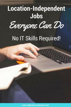 Do you want to become a digital nomad, remote worker, freelancer, or want to work from home or location independent? You don't need to be a programmer or graphic designer! Here are brilliant job ideas for which you don't need any IT skills! Id Digital, Travel Careers, How To Find Out, How To Become, Work Travel, Best Location, Work From Home Jobs, Online Work, Motivation