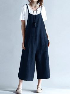 Cheap long pant jumpsuit, Buy Quality jumpsuit plus directly from China overall jumpsuit Suppliers: ZANZEA Womens Summer Spaghetti Straps Wide Leg Harem Loose Long Pants Jumpsuit Cotton Linen Solid Romper Overalls Plus Size Plus Size Jumpsuit, Overalls Plus Size, Rompers Women, Jumpsuits For Women, Fashion Jumpsuits, Pantalon Long, Pantalon Cargo, Designer Jumpsuits, Loose Pants