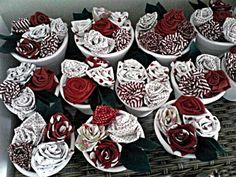 Vaso flores tecido