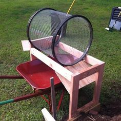 Trommel Compost Sifter: 7 Steps (with Pictures) Composting At Home, Composting Process, Farm Hacks, Garden Cultivator, Compost Soil, Compost Tumbler, Yard Waste, Cool Gadgets To Buy, Homemade Tools