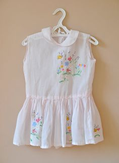 Sweet vintage embroidered baby dress.