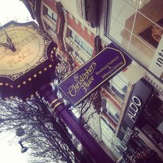 Find purple St Christopher's Place Clock at Oxford Street, London - there's a secret way to get us. . . (^_−)☆