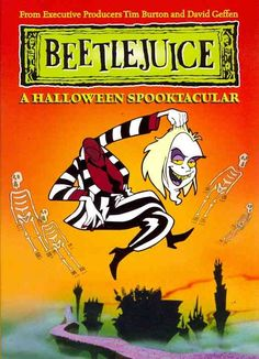 """Based on the film BEETLEJUICE from filmmaker Tim Burton, this whimsical cartoon follows """"Neitherworld"""" resident Beetlejuice's adventures with Goth teenager Lydia Deetz."""