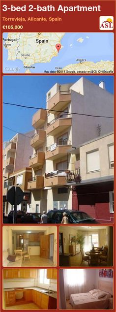 3-bed 2-bath Apartment in Torrevieja, Alicante, Spain ►€105,000 #PropertyForSaleInSpain