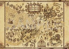 The Wizarding World of Harry Potter map