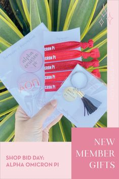 Spoil your new members this recruitment with the Pref Present bundle! Gift bag includes a sorority tassel keychain, hair tie set, and button set. Alpha Omicron Pi Gifts | Alpha Omicron Pi Bid Day | AOII New Member Gifts | Alpha O Rush Gift Bags | Alpha Omicron Pi Recruitment | Sorority Bid Day | Sorority Recruitment | Bid Day Bags | Sorority New Member Gift Ideas #BidDayGifts #SororityRecruitment