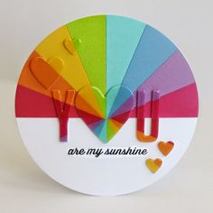 "Snippets By Mendi: ""Wishing You Sunshine"" Rainbow Inspired Cards «a new favorite of mine»"