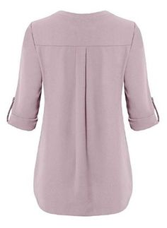 Tops For Women christmas shirts autism shirts – moiliky Women's Henley, Roll Up Sleeves, Blouse Designs, Shirt Blouses, Blouses For Women, Chiffon Tops, Ideias Fashion, Models, Long Sleeve