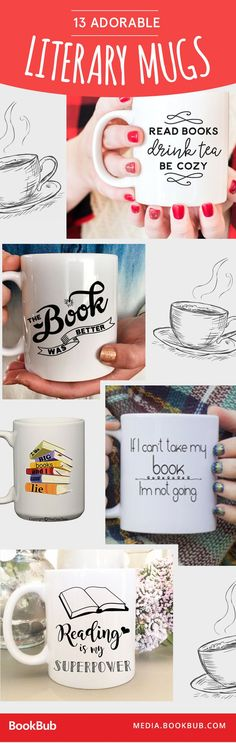 If your mom loves books (and tea!) these creative mugs would make the perfect Mother's Day gift idea! Simple yet thoughtful.