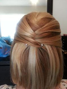 syles by kimberly: wedding style half up half down
