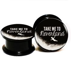 Find More Body Jewelry Information about 20pcs/lot Peter Pan Take me to neverland Screw Fit Black Acrylic Ear Gauge Plugs and Flesh Tunnel, Stretcher Expander 6mm   25mm,High Quality stretcher expander,China gauge plug Suppliers, Cheap ear gauges from DreamFire Store on Aliexpress.com