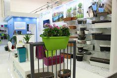 Happy Balconia at Plastkon tradeshow Trade Show, Planter Pots, Bar, Happy, Table, Furniture, Home Decor, Decoration Home, Room Decor