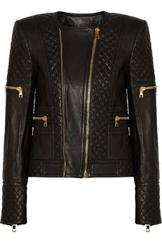 Balmain Quilted leather jacket | NET-A-PORTER