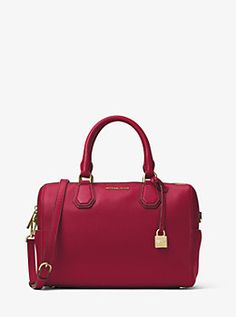 d589420a874 Mercer Medium Leather Duffel by Michael Kors Forever Red, Satchel Bag,  Dillards, Beautiful