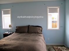 Master Bedroom Overhaul Phase 1: Blue Paint and Bedding