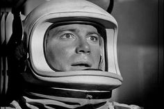 """""""The Outer Limits"""" episode, 'Cold Hands, Warm Heart' 1964 with William Shatner. Sadly, it really wasn't a very good episode. The Outer Limits, William Shatner, Cold Hands, Star Trek Tos, Retro Futurism, Old Movies, Outer Space, Captain Hat, Science Fiction"""