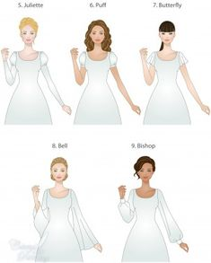 I know it's an LDS wedding dress thing, but all the diagrams for waistlines, necklines, sleeves, bodices, and skirts are so helpful.
