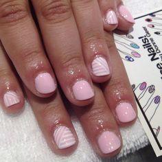 Pink with white #nailart for @meganwallis (Taken with Instagram)