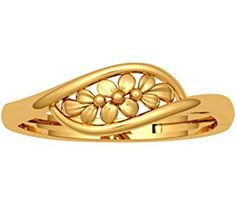 JewelOne Yellow Gold The Nerina Ring Gold Chain Design, Gold Ring Designs, Gold Bangles Design, Gold Earrings Designs, Gold Jewellery Design, Gold Ring Indian, Gold Rings Jewelry, Gold Bracelets, Ankle Bracelets