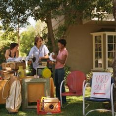 Secrets of Throwing a Money-Making Yard Sale. | Photo: Burke/Triolo Productions/Getty Images |More @This Old House.com sell stuff, sale idea, yard sales, yard sale help, moneymak yard, yardsale, friend, garag sale, yard sale tips