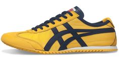 A classic: Onitsuka Tiger MEXICO 66 DX. I have a pair of these in yellow leather and suede (rather than plush synthetic).