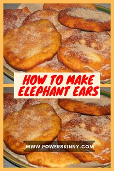 YOU'LL NEED: Milk – 1 c. Warm water – 1 c. All purpose flour or maida – 4 c. Oil for deep frying For elephant ears topping: Sugar – 4 tbsp. Elephant Ear Cookies, Elephant Ears Recipe, Elephant Ear Pastry, Elephant Eating, Elephant Elephant, Just Desserts, Dessert Recipes, Kraft Recipes, Fried Bread Recipe