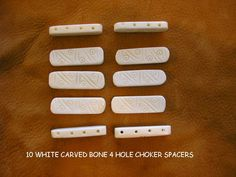 Bone Spacer Beads Buffalo Choker 3 hole Beads Jewelry Tribal Crafting BS3
