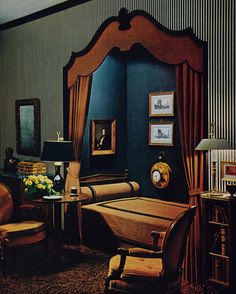 bedroom alcove design, 1963 | via Remarkably Retro