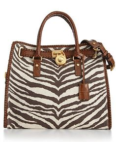 MICHAEL Michael Kors Handbag - Hamilton Whipped Canvas Tote in Tiger (purchase at Macy's - $348)