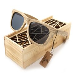 81e89deb977775 Men s Sunglasses Wood Sunglasses Luxury Brand Designer Mirror Polarized Lens