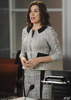 Julianna Margulies in a scene fron The Good Wife  (nice dress)