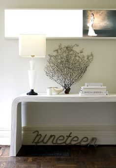 Simple White Vignette | photo Ted Yarwood | design Theresa Casey