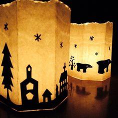 冬の工作に♪優しく灯る*牛乳パックキャンドルホルダー [暮らしニスタ] 暮らしのアイデアがいっぱい♪