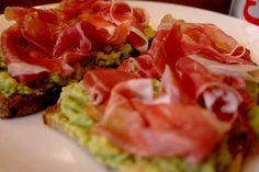 Roasted garlic guacamole & serrano ham on toast – The Londoner