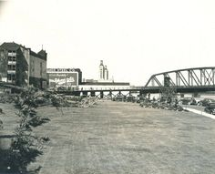From Oregon State Archives, a picture of the park that use to be next to the Battleship Oregon.