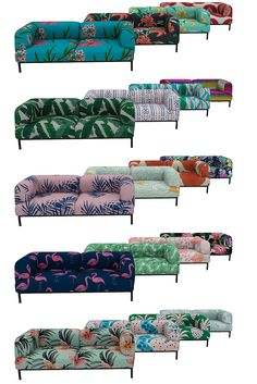 Urban Jungle: Bjorn Loveseat & Sofa - TS4 Recolor ✔ Meshes by mxims included ✔ Loveseat - 20 swatches. Sofa - 18 Swatches ✔ Custom Thumb Overlay ✔ Found in: Loveseat/Sofa > §2000 ❤Download: Sim File...