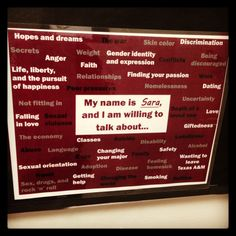 Great sign for office/RA doors to open the door to share what one's willing to talk about. Edit with your name/topics/and school colors! Email sara_harrison@housing.tamu.edu if you'd like the Publisher doc, or a PDF created & sent! Brilliance courtesy of @Shawn O Brackett. #reslife #sachat #highered @The Resident Advisor