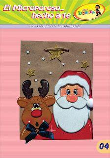Miss Dorita: Bolsa Santa y Reno Christmas Crafts, Christmas Decorations, Ideas Para, Pixie, Kids Rugs, Scrapbook, Paper, Winter, Floral