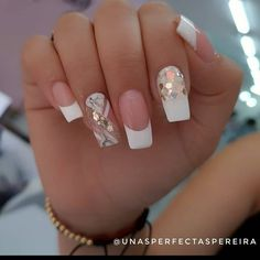 "1.385 Me gusta, 2 comentarios - Fashion Nails (@modasnails7) en Instagram: ""Super lindo diseño💅?? Si te gusta dale like ❤️ . . . . . . . . . Natural nails-gel #uñaslindas…"" Cute Acrylic Nails, Gel Nails, Best Nail Art Designs, Stylish Nails, Cool Nail Art, Hair Beauty, Makeup, Pretty Nails, Work Nails"