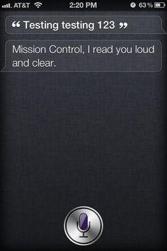 Tell Siri: Testing, testing, 1, 2, 3 #iPhone #Apple #Siri