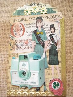 ATC with a Vintage Camera | by Donetta's Beaded Treasures