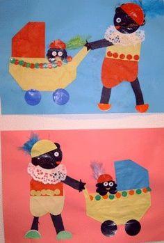 Piet met kinderwagen