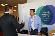 Steven Wang from Sheffield Universities Healthcare Gateway in The Technology Showroom