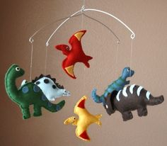 Felt dinosaurs - Way cool mobile
